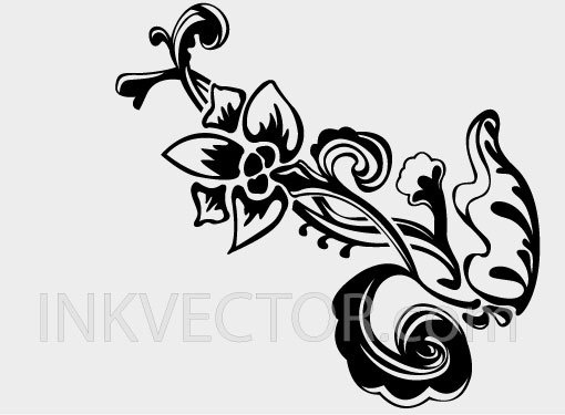 Hand Drawn Floral Vector